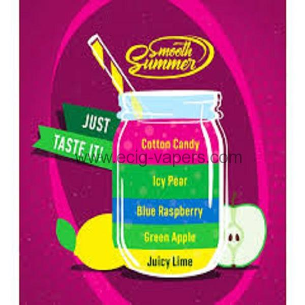 Big Mouth Smooth Summer-Juicy Lime-Green Apple- Blue Rapsberry-Icy Pear